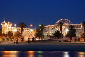 The Park By Night by monteycarlos