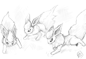 Flareon Study - 01 by shadowind98