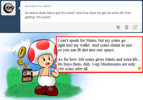 Ask Toad - Coins by pocket-arsenal
