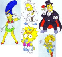 Sailor Moon Cosplay - The Simpsons by tr3forever