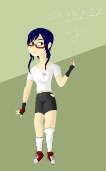 Myto - A blue haired geek. by chixhip12