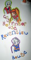 Gryffindor and ravenclaw house by animevampLlover