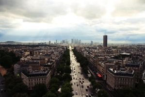 view from arc de triomphe by morethanprincess