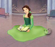 Belle in green - with Chip by mene
