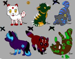 Wolf Adoptables 1 by RainWolf-Adopts