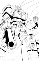 Optimus Prime Lineart by beamer