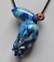 Glass Octopus Pendant by cold-in-the-north