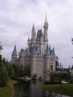 Disney Castle with Water by Dygyt-Alice