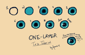 one-layer iris tutorial by iZaloyn