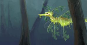 Leafy Sea Dragon Speedpaint by stuffed