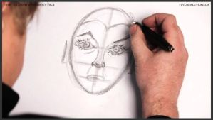 How to Draw a Woman's Face 015 by drawingcourse