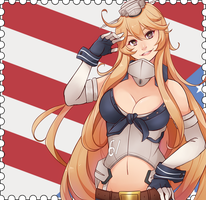 USS Iowa from Kantai collection by brimochi