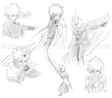 Fanart: KHR: Giotto sketches by Ecaenyl