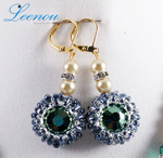 Leenou Handmade Green Earrings by Chiraz22