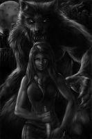 Werewolf Art by Robert Marzullo by robertmarzullo