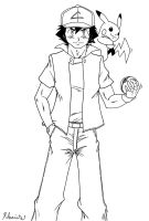 Ash Ketchum Adult - Request by ~yxa4evr by Rohanite