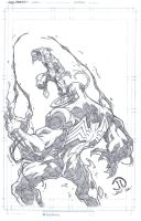 Spiderman vs Venom commission pencils by JoeyVazquez