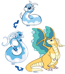 My Dratini Swablu fusion! by Jesseth