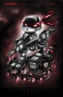TMNT Mini Donny Noir by RobDuenas