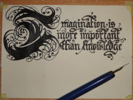 Imagination is more important than knowledge by Vilyandil