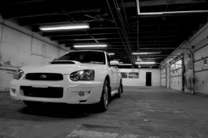 WRX in the machine shop by dudeletsgoskate