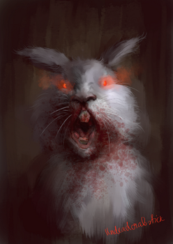 The Killer Rabbit of Caerbannog by undeadcrabstick