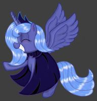 Luna with a cute little cape thing. by springveil