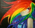 Rainbow Dash on canvas by Tao-mell
