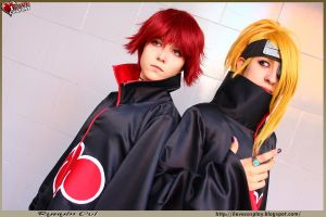 Sasori and Deidara by mina-K-ta