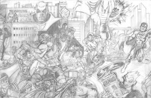 Superman: Through the Ages Page 3, prelim pencils by ryanv80