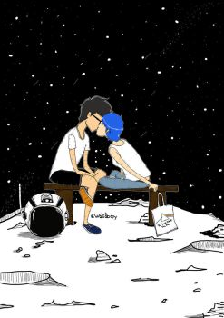 Kissing under a thousand stars by astronautgetlost