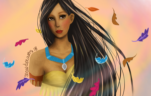 Pocahontas Bust by snowdreams18