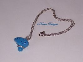 Ocarina of Time Pendant Necklace 5 ZELDA by TorresDesigns