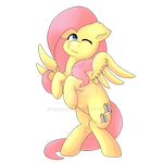 Fluttershy collaboration by Coralcloud