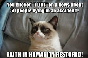 Grumpy Cat likes folks who LIKE... by Cthulhu1976