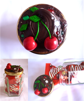 Chocolate cream and cherries by Angelic14