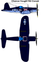 Chance Vought F4U Corsair by bagera3005