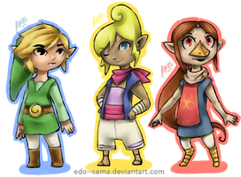 Cuties of The Wind Waker by Edo--sama