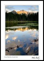 Longs Peak from Nymph Lake 2 by kennedmh
