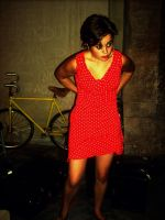 red brillant dress by TheWhiteNight