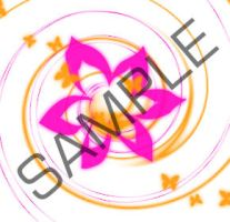 Orange Pink Swirl Sample by PineappleMarket