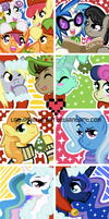 MLP Christmas Icons 2 by ladypixelheart