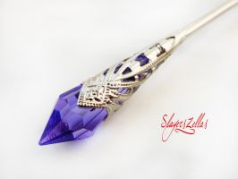 Fantasy hair stick with purple icicle by Benia1991