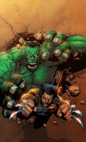 Wolvie vs.Hulk-Marvel Sample 4 by SplashColors