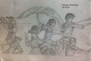 Team Avatar in action by sliverseven