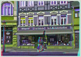 Record shop 3D ::: HDR Anaglyph Stereoscopy by zour