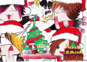 Christmas with The GazettE ~ by DFrohlic