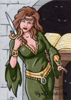 Spellcasters Sketch Card 2 by ElainePerna