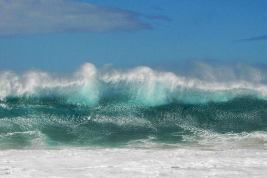 Molokai Wave by sjsarge