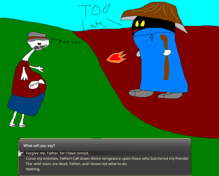 Atheist tries to take on a holy wizard... by mistermoomoo4